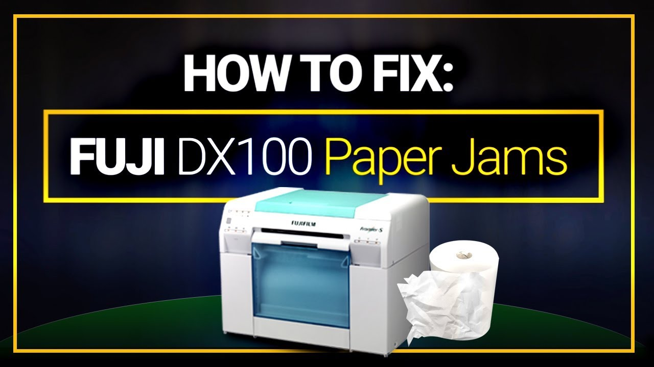 How To Fix Paper Jams In The Fuji Dx100 Printer Youtube