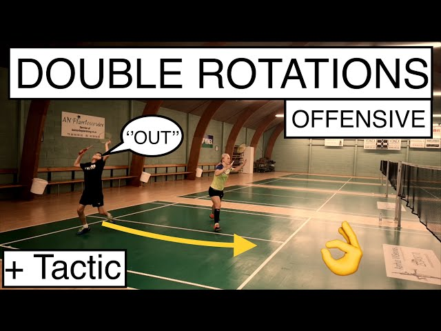 BADMINTON EXERCISE #82 - OFFENSIVE DOUBLE ROTATIONS + TACTICS