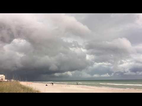 Thunderstorm Moves Across Cocoa Beach Florida