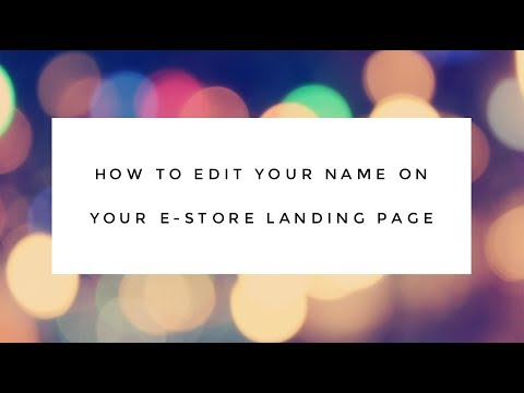 Avon Reps: How to Change The Name on Your E-store