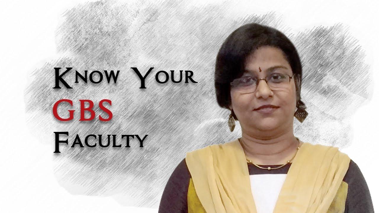 Download Know Your Globsyn B-School Faculty - Prof. (Dr.) Arpita Basak
