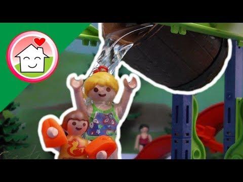 قصة البرميل الكبير في حديقة الألعاب المائية - عائلة عمر - أفلام بلاي