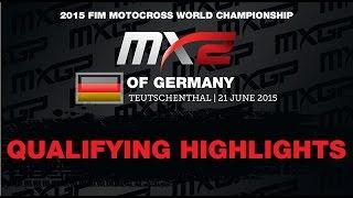 MXGP of Germany MX2 Qualifying Race Highlights 2015 - motocross