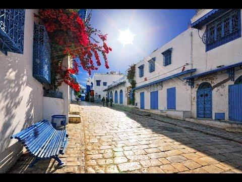 Le village blanc bleu de Sidi bou said Tunisie