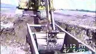 laying sewer pipe