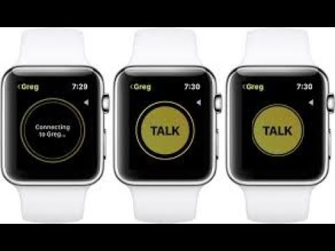 Full Walkthrough : Apple Watch Walkie Talkie App