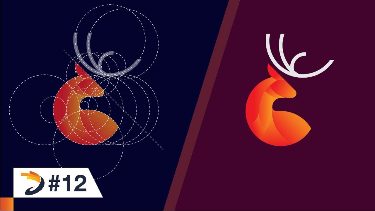 Adobe Illustrator Tutorial | Deer Logo Design with Golden