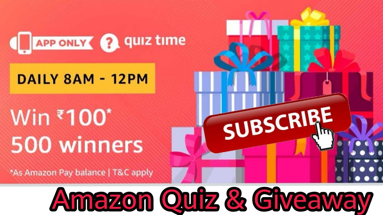 Amazon Quiz Answer To Win ₹100 | 500 Winners | 27 December , Amazon Quiz and Giveaway