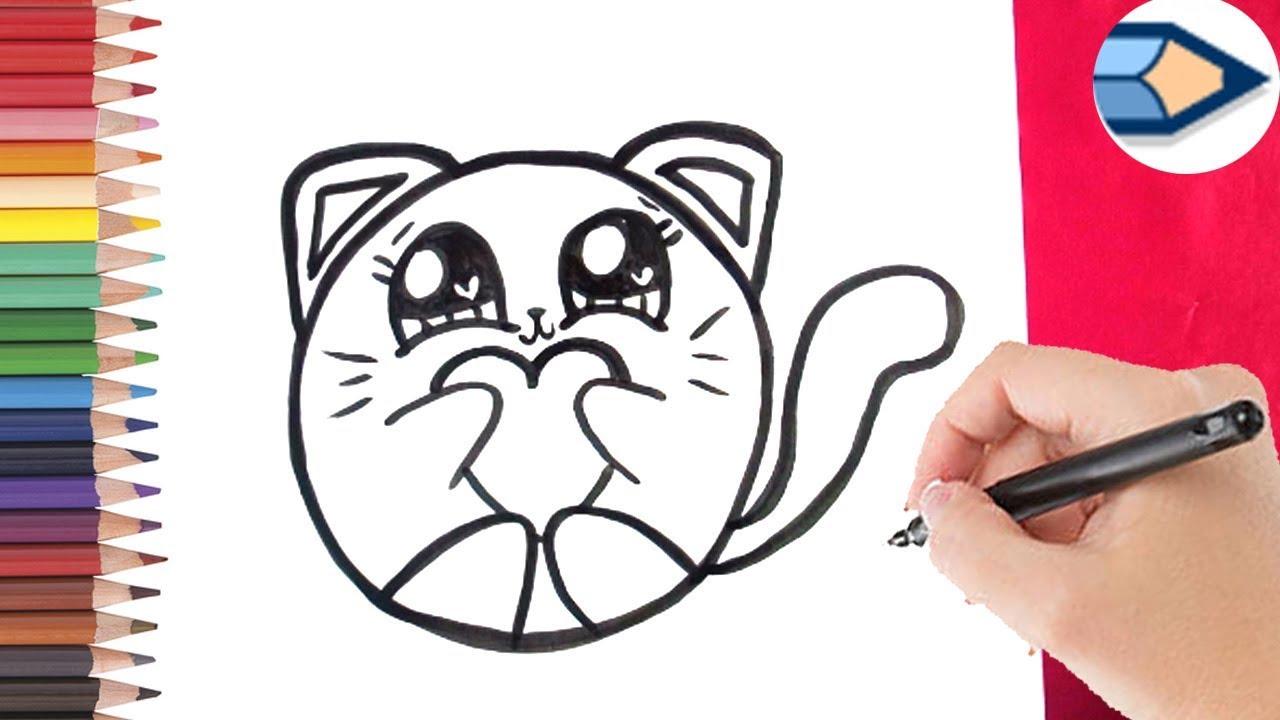hoe teken je een schattig poesje leren tekenen voor