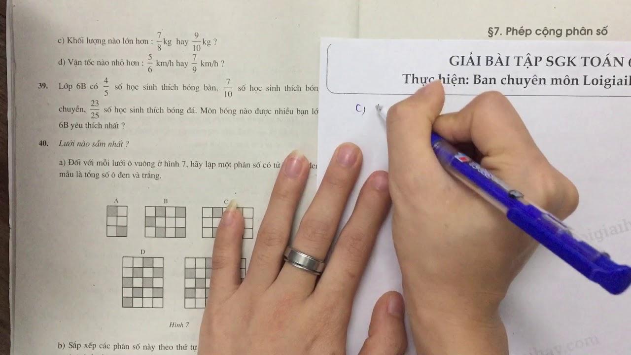 Giải bài 38 trang 23 SGK toán 6 tập 2