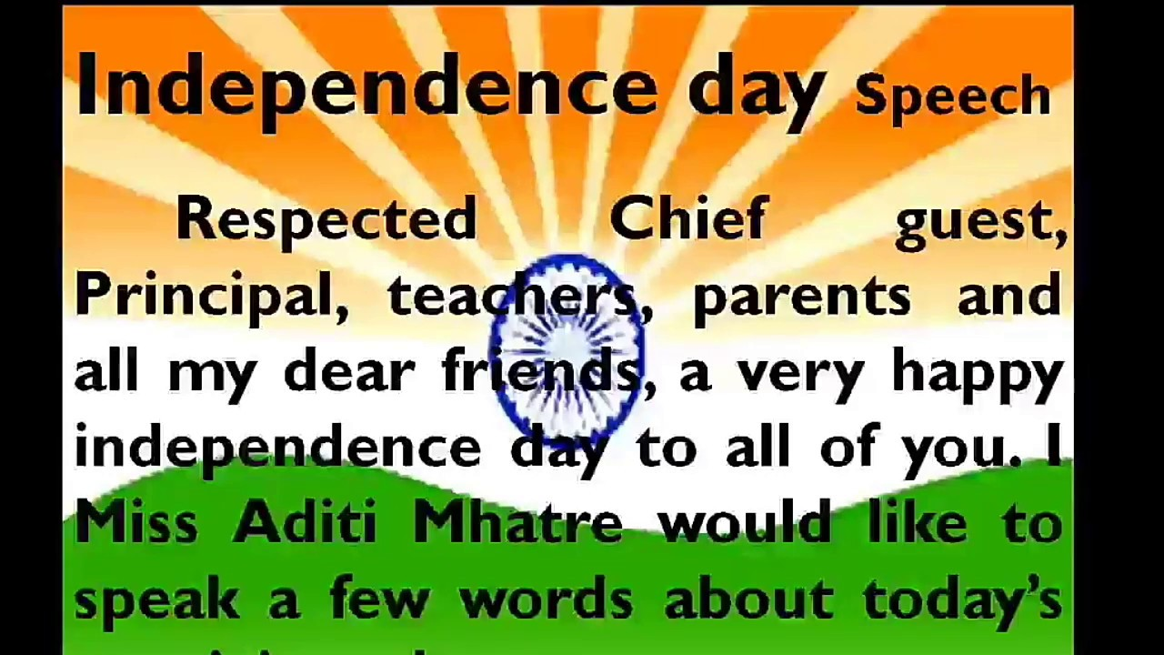Speech on independence day / 15th August in English by Smile Please Kids