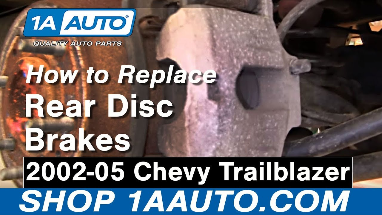 how to replace rear brakes 02 05 chevy trailblazer 1a auto parts [ 1280 x 720 Pixel ]