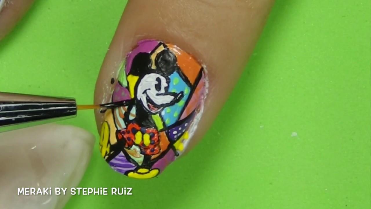 Único Mickey Arte De Uñas Elaboración - Ideas de Pintar de Uñas ...
