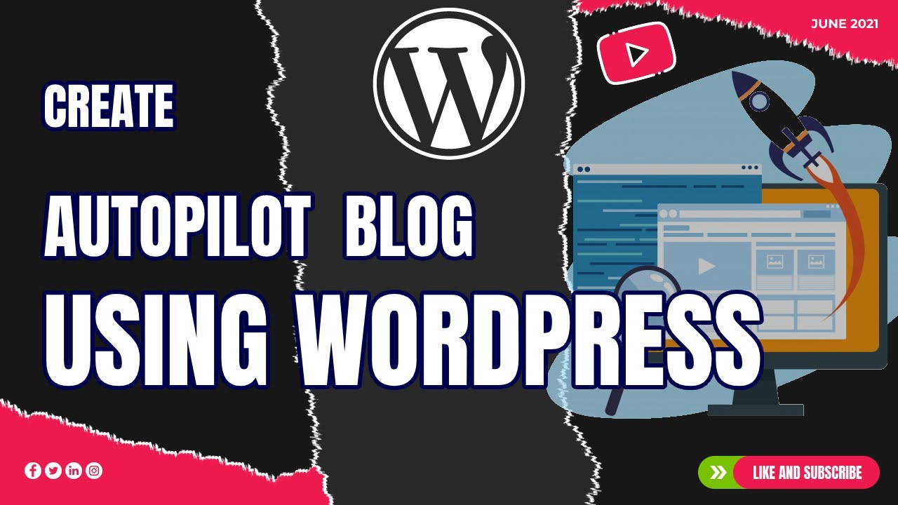 How to create autopilot blog using WordPress & How to generate article automatically - Full Tuto