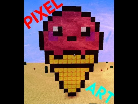 Pixel Art Cornet De Glace Kawaiii Youtube