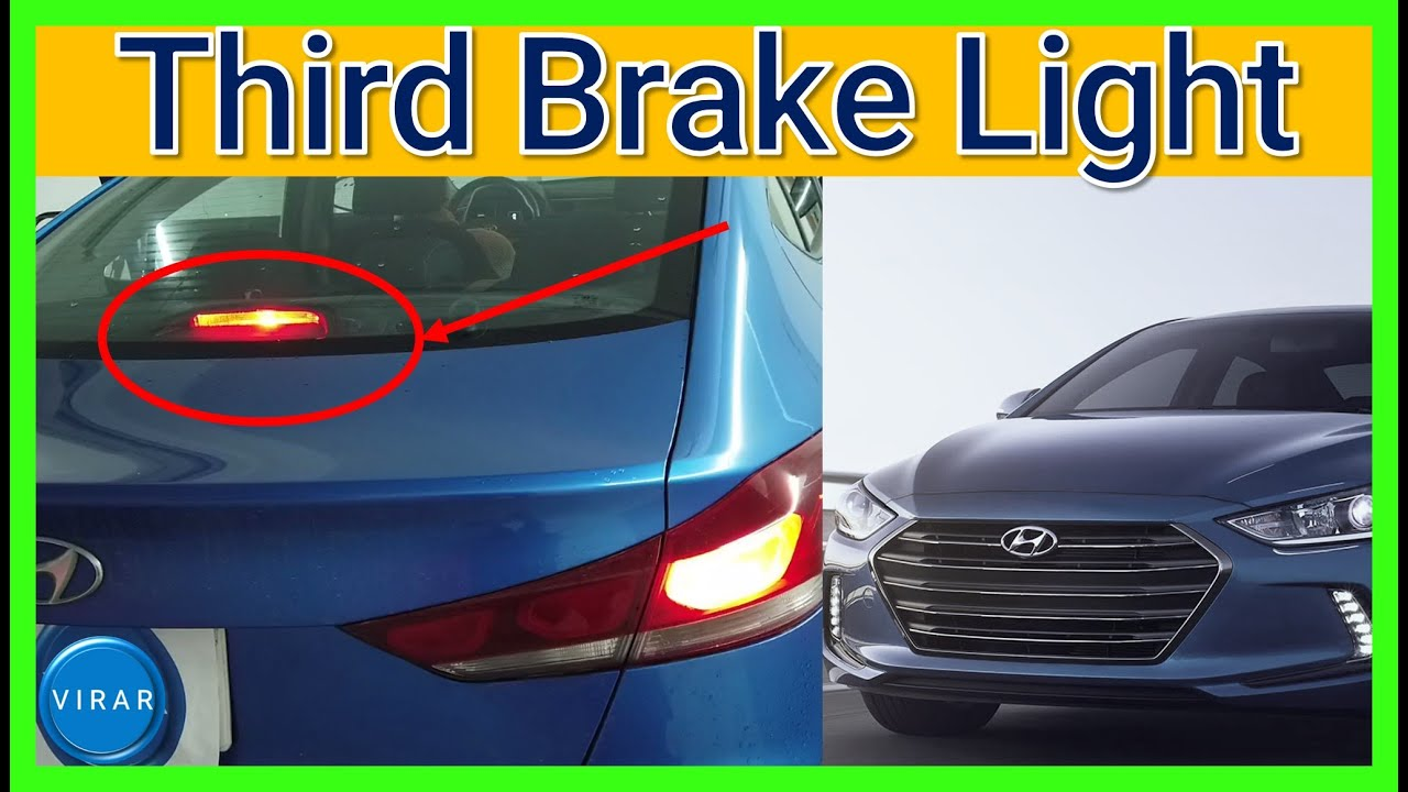How to Change 3rd / Third (Center) Brake Light [EASY] - Hyundai Elantra -  2017/2018