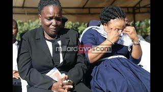 Prof. Ndalichako alivyomwaga machozi msiba Maria na Consolata