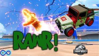 T-REX GOAL EXPLOSION! Jurassic World DLC for Rocket League is here!