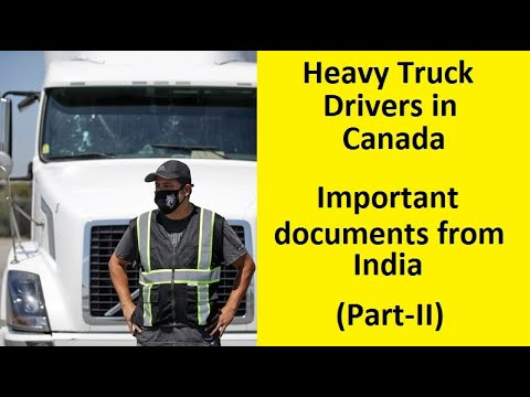 Demand Of Truck Drivers In Canada – Canada Work Permit