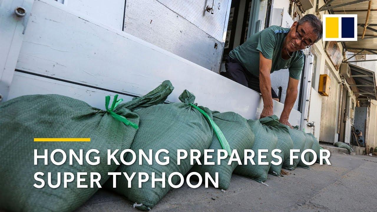 Hong Kong prepares for super typhoon