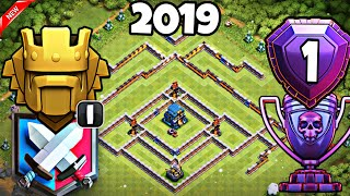 NEW BEST TH12 TROPHY FARMING BASE 2019 | TH12 STRONG DEFENSIVE LEGEND LEAGUE BASE - Clash of Clans