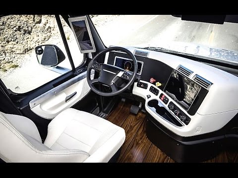 Daimler S Self Driving Truck Interior Is Deluxe Review
