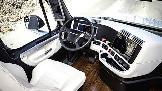 Daimler's Self Driving Truck INTERIOR Is Deluxe Review Freightliner Inspiration Autonomous CARJAM
