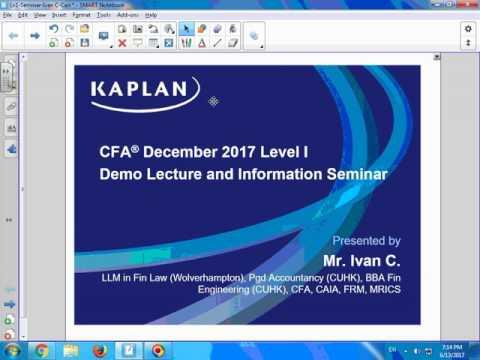 CFA Dec 2017 Level 1 - Corporate Finance - Mr. Ivan C. - CFA, CAIA, FRM