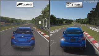 Forza Motorsport 6 vs Gran Turismo Sport Beta - Subaru WRX STI at Nordschleife
