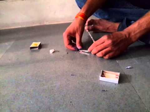 How to make a bullet using household items