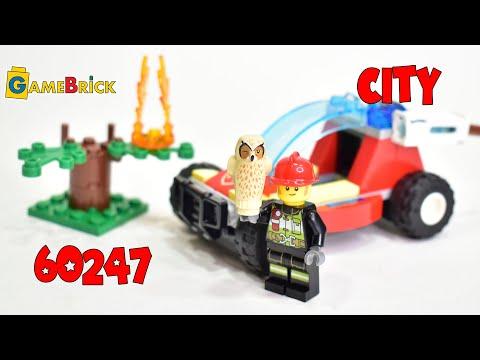 ЛЕГО 60247 Лесные пожарные Обзор. [GameBrick]