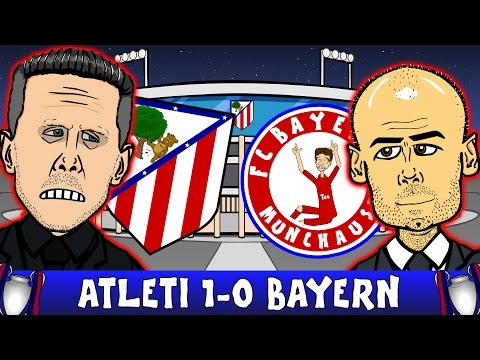 ATLETICO MADRID vs BAYERN MUNICH 1-0 (UEFA Champions League 2016 Semi-Final Parody Highlights)
