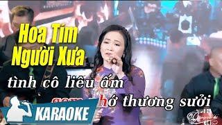 Hoa Tím Người Xưa Karaoke Quý Lễ (Tone Nữ)   Nhạc Vàng Bolero Karaoke