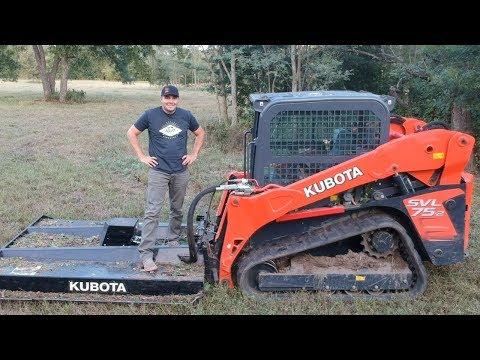 Kubota SVL75 With Brush Cutter Attachment