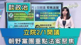 【說政治】立院2/1開議 朝野黨團重點法案聚焦