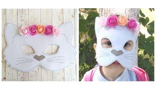 DIY маска - кошка из фетра. AMI MURKA