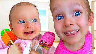 Kids Song Compilation of videos where Daddy play and sings with Maya and Little Baby Mary