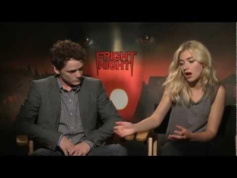 Anton Yelchin and Imogen Poots Interview Fright Night