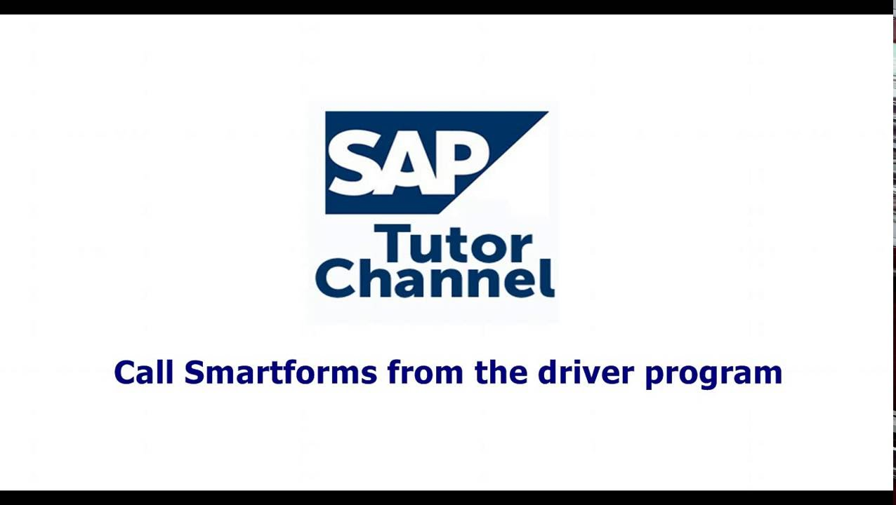 call smartforms from the driver program