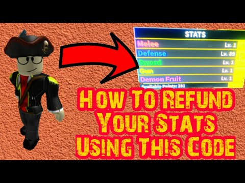 How To Refund Your Stats Using This Code! - Blox Piece (Roblox)