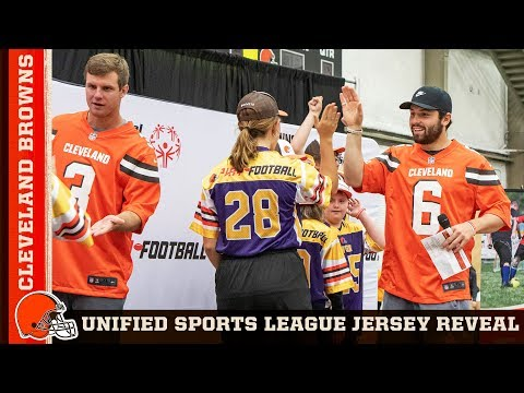 Browns Host Special Olympics Ohio Unified Sports Uniform Reveal | Cleveland Browns