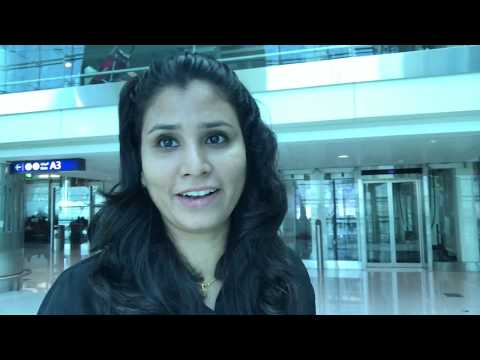 Dubai International Airport Terminal 3 and Interior of Emirates Flight