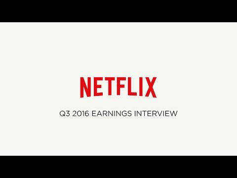 Netflix Q3 2016 Earnings Interview