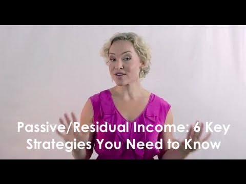 Passive and Residual Income: 6 Key Strategies You Need to Know – Kate Northrup