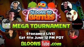 BTD Battles - Youtubers mega tournament full replay