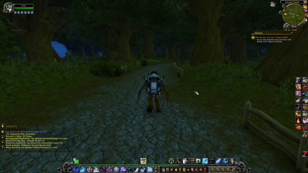 Westbrook Garrison Needs Help Quest Id 239 Playthrough Elwynn Forest