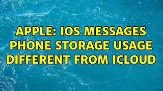 Apple: iOS Messages phone stor…