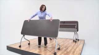 Training Room Flip Top Table | Nbf Flex | National Business Furniture