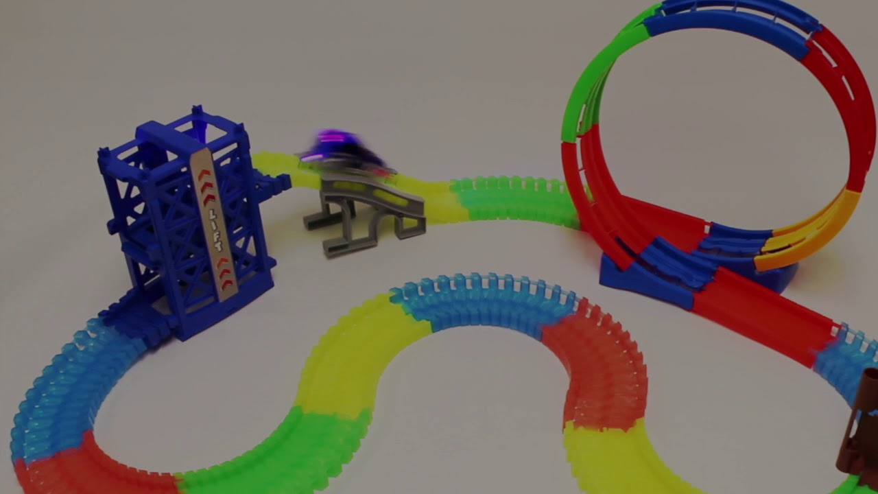 Mintoys 360 Loop Magic Track Glow In Dark With Light Up Car Youtube