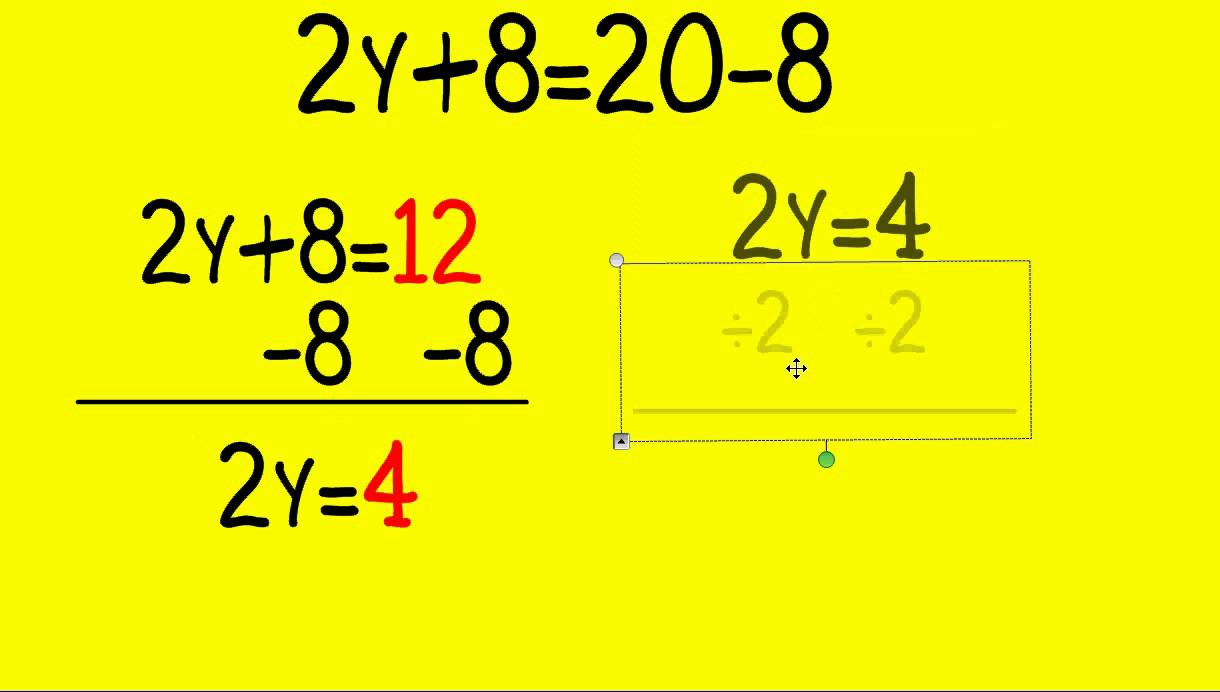 Balancing Algebraic Equations - YouTube